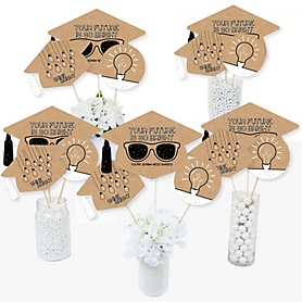 Bright Future - Graduation Party Centerpiece Sticks - Table Toppers - Set of 15