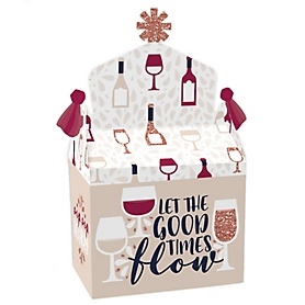 But First, Wine - Treat Box Party Favors - Wine Tasting Party Goodie Gable Boxes - Set of 12