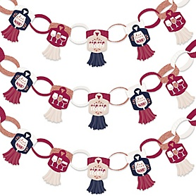 But First, Wine - 90 Chain Links and 30 Paper Tassels Decoration Kit - Wine Tasting Party Paper Chains Garland - 21 feet