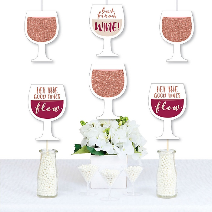 But First, Wine - Decorations DIY Wine Tasting Party Essentials - Set of 20