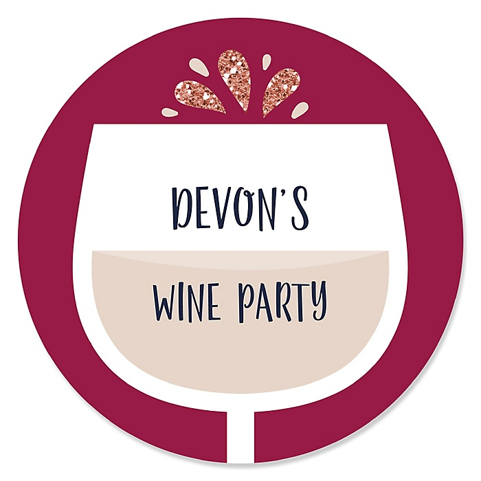 But First, Wine - Personalized Wine Tasting Party Sticker Labels - 24 ct