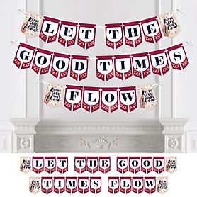 But First, Wine - Personalized Wine Tasting Party Bunting Banner and Decorations