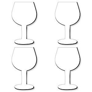 Wine Glass Foam Board - Shaped DIY Craft Supplies for Resin and Painting - Blank Foam Board - 4 Piece