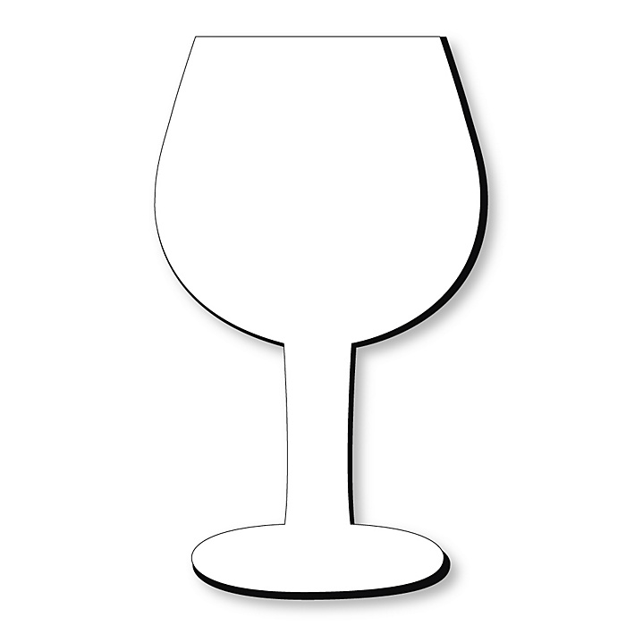 Wine Glass Foam Board - Shaped DIY Craft Supplies for Resin and Painting - Blank Foam Board - 1 Piece