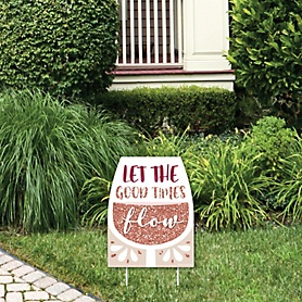 But First, Wine - Outdoor Lawn Sign - Wine Tasting Party Yard Sign - 1 Piece