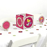 Playful Butterfly and Flowers - Baby Shower Centerpiece & Table Decoration Kit