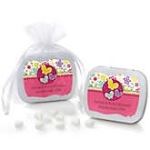 Playful Butterfly and Flowers - Personalized Baby Shower Mint Tin Favors
