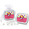 Playful Butterfly and Flowers - Personalized Birthday Party Mint Tin Favors