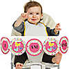 Playful Butterfly and Flowers - 1st Birthday - I Am One - First Birthday High Chair Banner