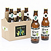 Prickly Cactus Party - 6 Fiesta Party Beer Bottle Label Stickers and 1 Carrier