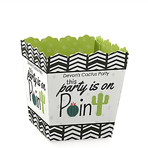 Prickly Cactus Party - Party Mini Favor Boxes - Personalized Fiesta Party Treat Candy Boxes - Set of 12