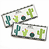 Prickly Cactus Party - Personalized Candy Bar Wrapper Fiesta Party Favors - Set of 24