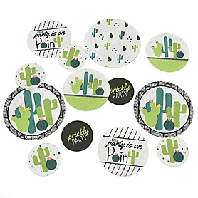 Prickly Cactus Party - Fiesta Party Giant Circle Confetti - Party Decorations - Large Confetti 27 Count