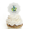 Prickly Cactus Party - Cupcake Picks with Personalized Stickers - Fiesta Party Cupcake Toppers - 12 ct