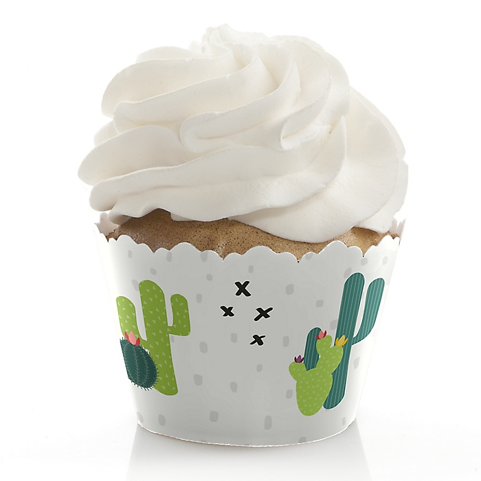 Prickly Cactus Party - Fiesta Party Decorations - Party Cupcake Wrappers - Set of 12