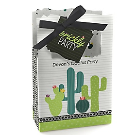 Prickly Cactus Party - Personalized Fiesta Party Favor Boxes - Set of 12