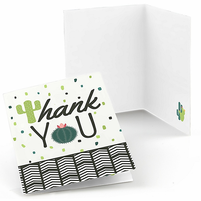 Prickly Cactus Party - Fiesta Party Thank You Cards - 8 ct