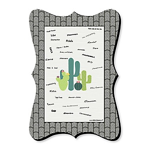 Prickly Cactus Party - Unique Alternative Guest Book - Fiesta Party Signature Mat