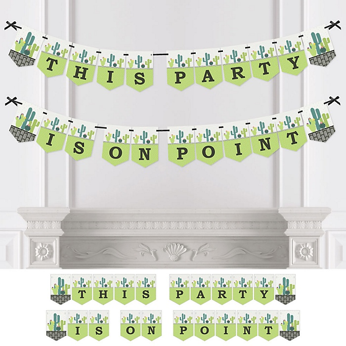 Prickly Cactus Party - Personalized Fiesta Party Bunting Banner & Decorations