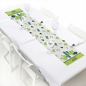 "Prickly Cactus Party - Personalized Petite Fiesta Party Paper Table Runner - 12"" x 60"""
