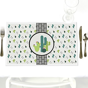 Prickly Cactus Party - Party Table Decorations - Fiesta Party Placemats - Set of 12