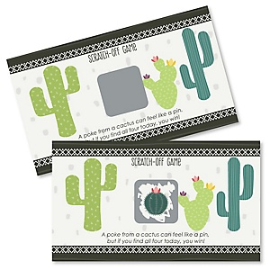 Prickly Cactus Party - Fiesta Party Scratch Off Cards - 22 Count