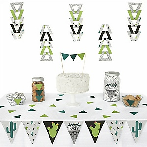 Prickly Cactus Party -  Triangle Fiesta Party Decoration Kit - 72 Piece