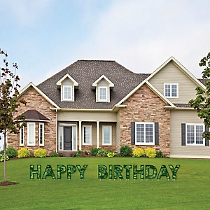 Camo Hero - Yard Sign Outdoor Lawn Decorations - Army Military Camouflage Happy Birthday Yard Signs - Happy Birthday