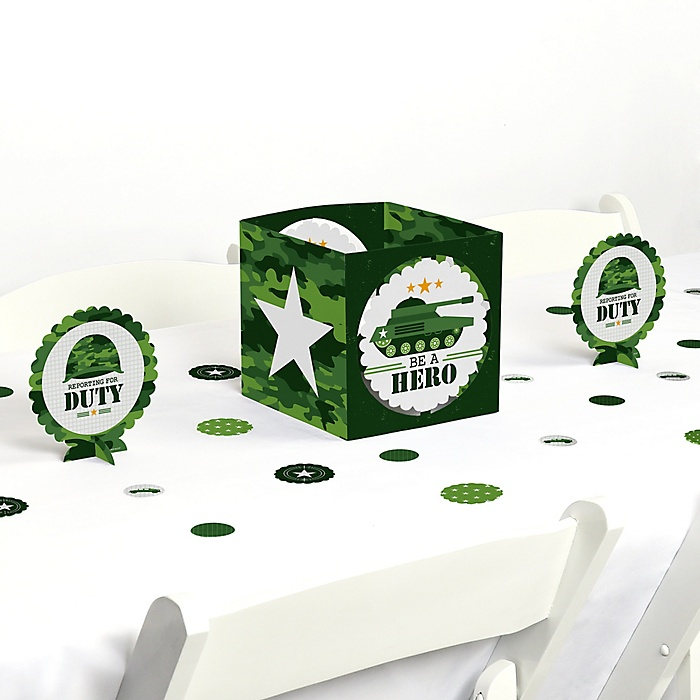 Camo Hero - Army Military Camouflage Party Centerpiece & Table Decoration Kit