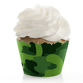 Camo Hero - Army Military Camouflage Party Decorations - Party Cupcake Wrappers - Set of 12