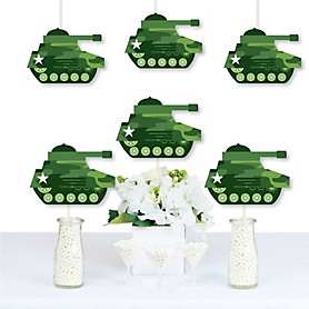 Camo Hero - Decorations DIY Army Military Camouflage Party Essentials - Set of 20
