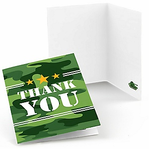 Camo Hero - Army Military Camouflage Party Thank You Cards - 8 ct