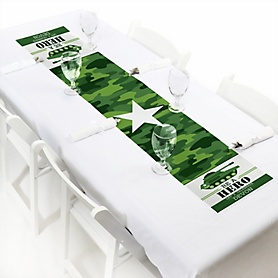 Camo Hero - Personalized Army Military Camouflage Party Petite Table Runner