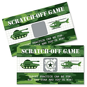 Camo Hero - Army Military Camouflage Party Game Scratch Off Cards - 22 ct