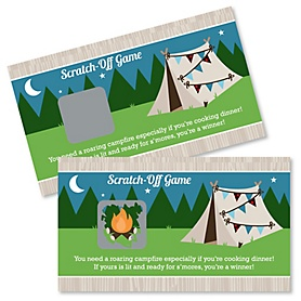 Happy Camper - Camping Baby Shower or Birthday Party Scratch Off Cards - 22 Cards