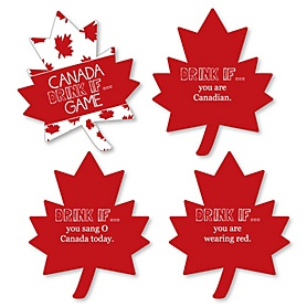 Drink If Game - Canada Day - Canadian Party Game - 24 Count