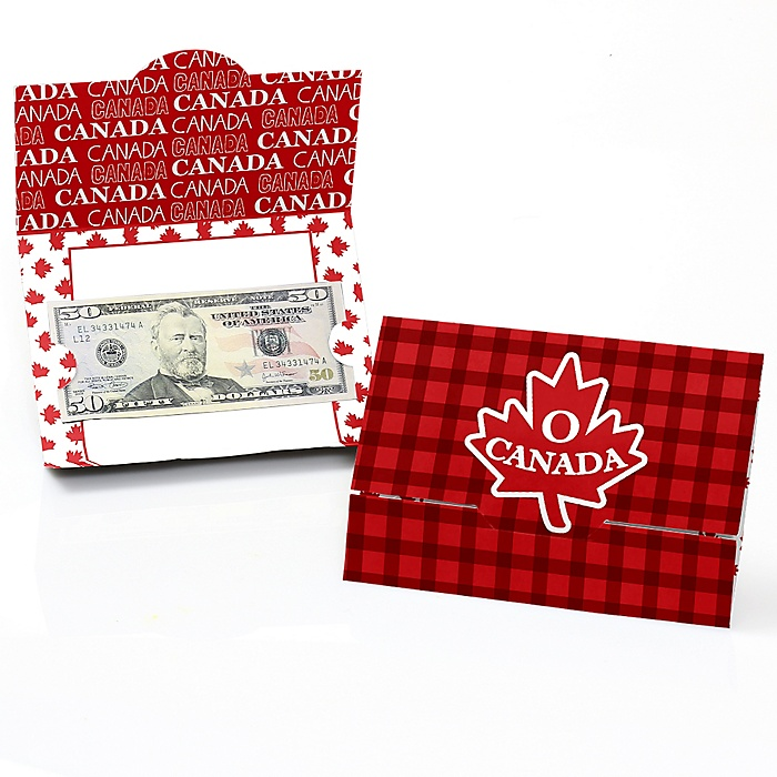 Canada Day - Party Money And Gift Card Holders - Set of 8