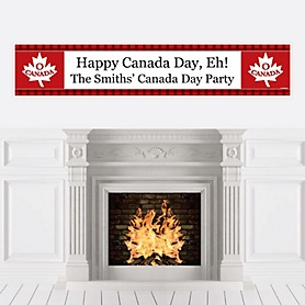 Canada Day - Personalized Canadian Party Banner
