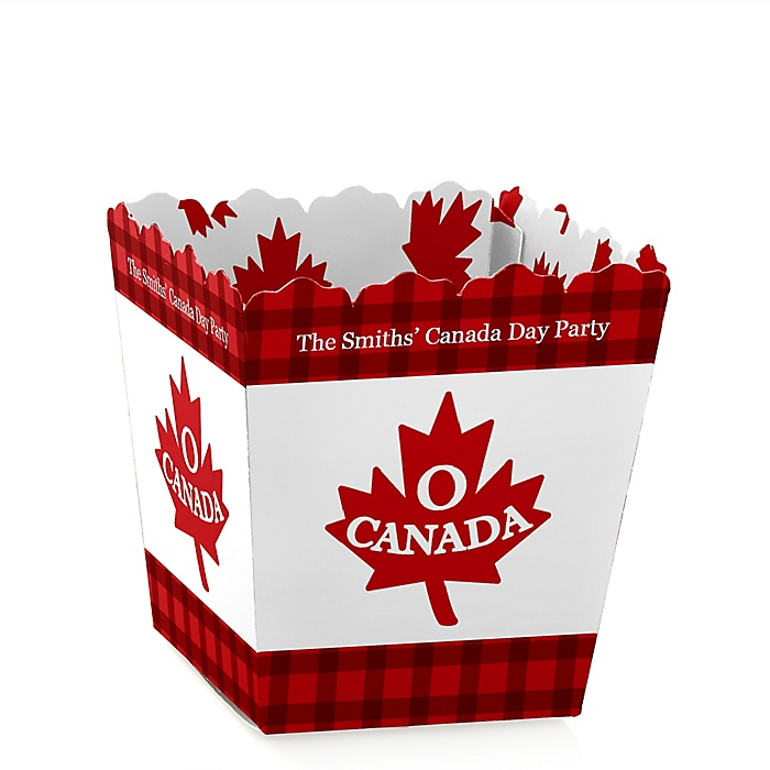 Canada Day - Party Mini Favor Boxes - Personalized Canadian Party Treat Candy Boxes - Set of 12