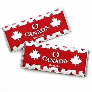 Canada Day - Personalized Candy Bar Wrapper Canadian Party Favors - Set of 24