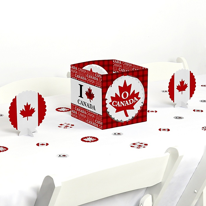 Canada Day - Canadian Party Centerpiece and Table Decoration Kit