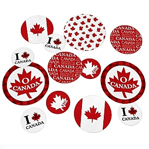 Canada Day - Canadian Party Giant Circle Confetti - Party Decorations - Large Confetti 27 Count