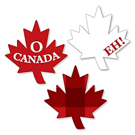 Canada Day - DIY Shaped Canadian Party Cut-Outs - 24 ct