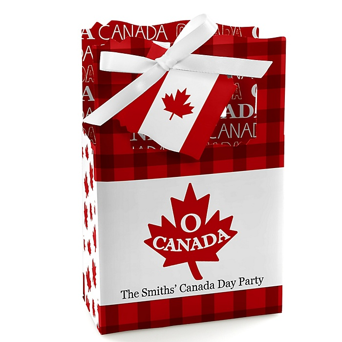 Canada Day - Personalized Canadian Party Favor Boxes - Set of 12
