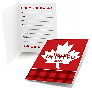 Canada Day - Fill In Canadian Party Invitations - 8 ct