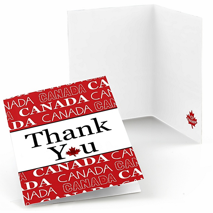 Canada Day - Party Thank You Cards - 8 ct