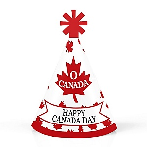 Canada Day - Personalized Mini Cone Canadian Party Hats - Small Little Party Hats - Set of 10