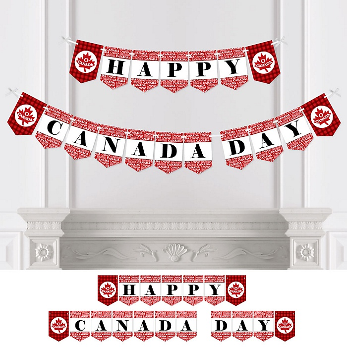 Canada Day - Personalized Canadian Party Bunting Banner & Decorations
