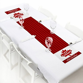 """Canada Day - Personalized Petite Canadian Party Paper Table Runner - 12"""" x 60"""""""