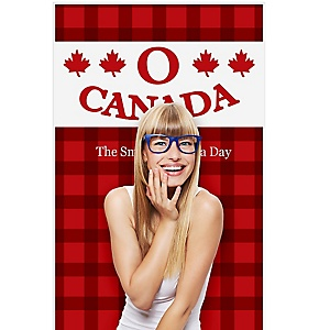 """Canada Day - Canadian Party Photo Booth Backdrops - 36"""" x 60"""""""